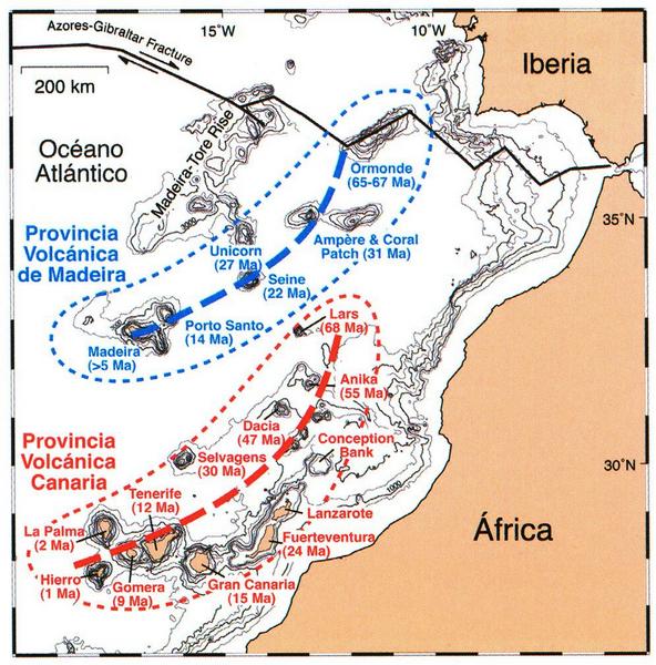Kanaren Inseln Karte.Rainer Olzem De Exkursionen Geologie Von La Palma
