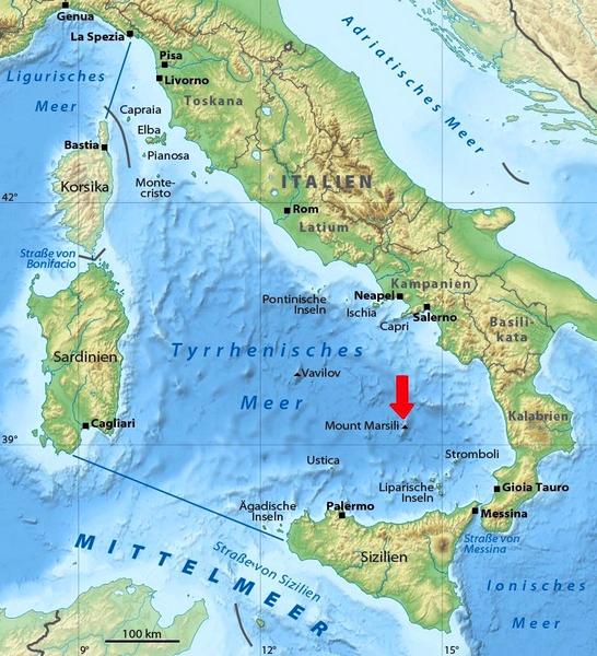 Vulkane Der Erde Karte.Rainer Olzem De Themen Marsili Supervulkan Im Mittelmeer